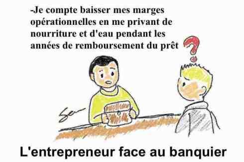 entrepreneur entreprise brouillon prêt bancaire banquier
