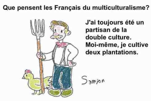 double culture avec un paysan cultive multiculturalisme