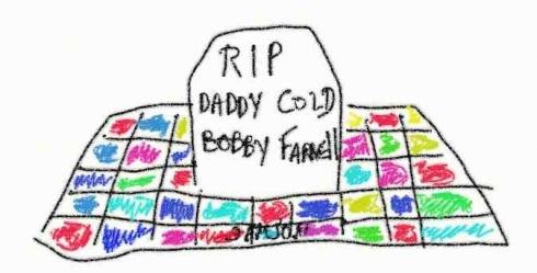 caricature Bobby Farrell Boney M tombe disco