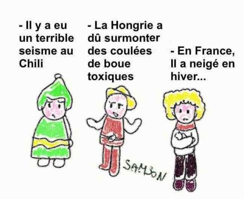 chilien français hongrois catastrophe naturelle dans chaque pays mais à des niveau différent