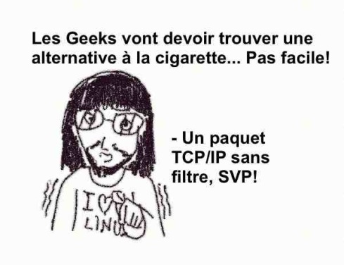 geek fumeur TCP IP paquet