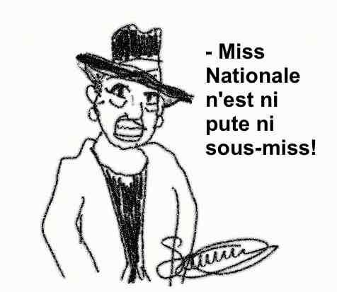 Miss France Nationale De Fontenay Dame au chapeau blanc