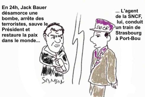 agent SNCF gréviste flemmard tire-au-flanc Jack Bauer 24 heures chrono sauve le monde
