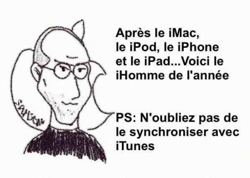 brouillon de la firme à la pomme Apple iPad iPhone iMac Homme de l'année Steve Jobs