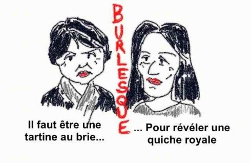 Ségolène Royal et Martine Aubry pour une politique burlesque