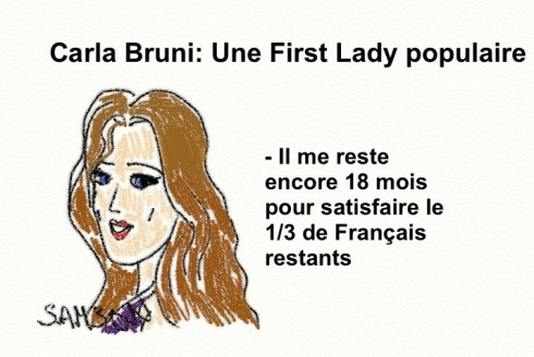 sondage carla bruni populaire first lady première dame