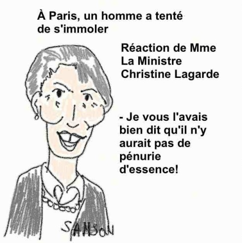 Christine Lagarde Lagaffe essence vélo