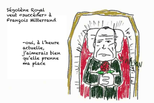 Royal Ségolène François Mitterand tombe décès rose socialiste dans sa tombe