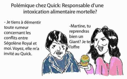 segolene martine au quick giant burger