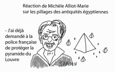pyramide du Louvre patrimoine égyptien pillage Michèle Alliot Marie MAM