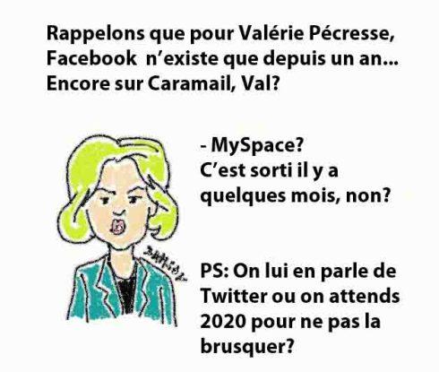 Caramail Pécresse valerie Ministre Facebook MySpace