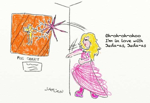 Lady gaga Judas Born This Way Piss Christ destruction integrisme catholique religieux