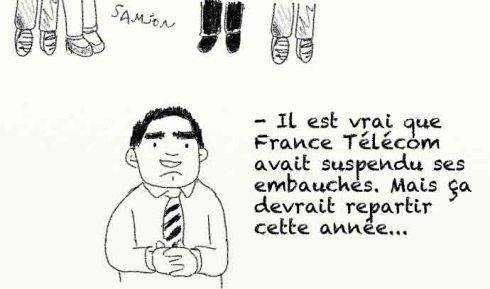 Orange France Telecom suicide pendaison secteur commercial porteur