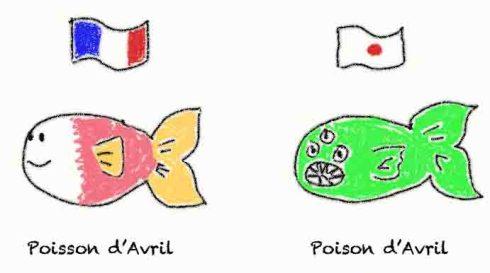 poisson d'avril japon France