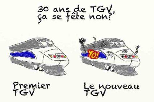 TGV SNCF vieillot épave