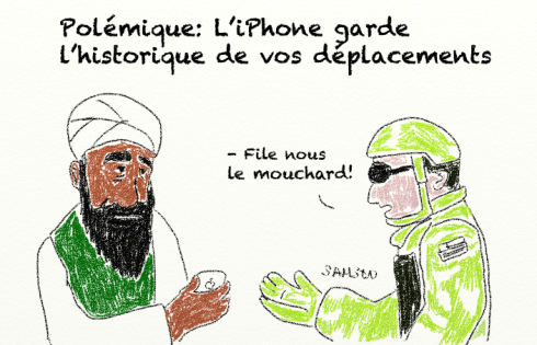 Ben Laden iPhone capture géolocalisation flicage vie privée