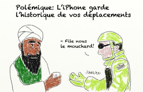 Ben Laden iPhone capture géolocalisation flicage vie privée