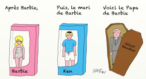 Barbie caricature dessin Ken Elliot Handler poupée plastique