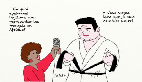David Douillet caricature ceinture noire judoka