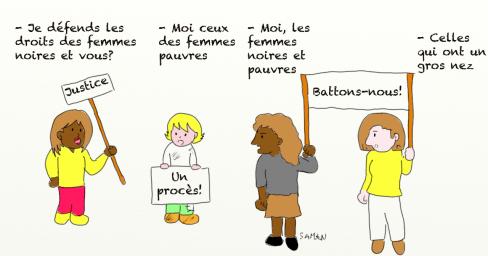 Nafissatou DSK manifestation caricature