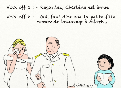 Mariage princier caricature Monaco