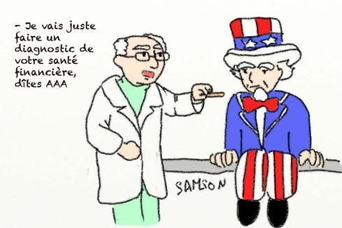 santé financière des Etats Unis AAA AA+ dette déficit crise