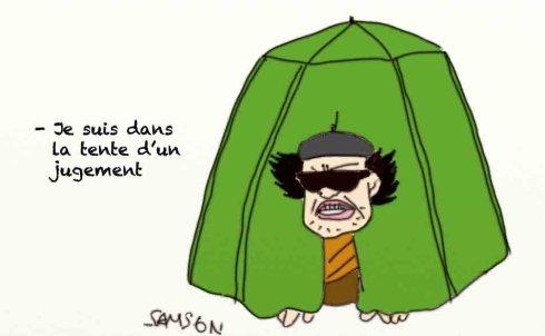 Kadhafi tente jugement rebelle dictateur