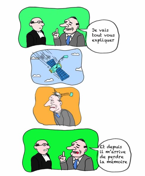 chirac perte de mémoire satellite