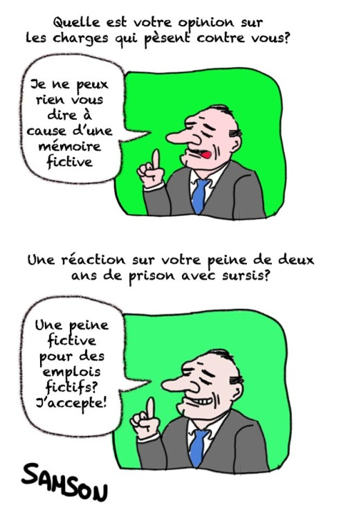 emploi fictif mairie de Paris Nanterre jugement Jacques Chirac perte de mémoire procès ancien président