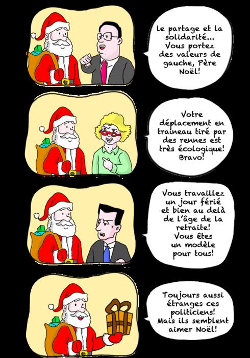 politique eva joly françois hollande Nicolas Sarkozy pere noel