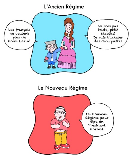 présidentielle 2012 Régime Ancien Régime Nouveau Jogging Hollande François Socialiste PS UMP Nicolas Sarkozy Carla Bruni Marie Antoinette Président Résultat