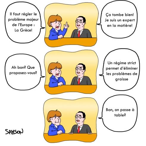 François Hollande Merkel Angela Réunion Franco Allemande Président normal Pacte budgetaire