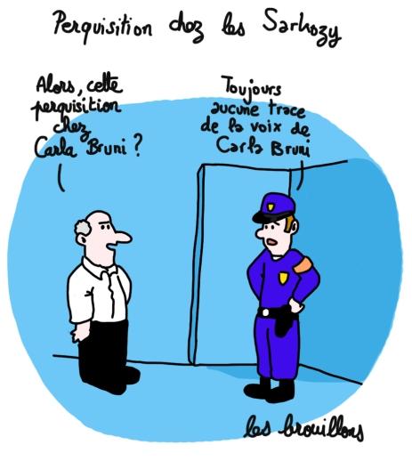 perquisition Carla Bruni Nicolas Sarkozy Police Procès