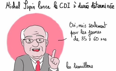 Michel Sapin CDI CDD