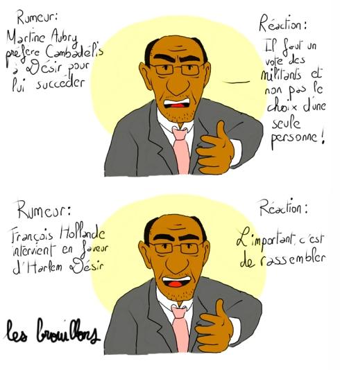 Harlem Désir PS succession Martine Aubry