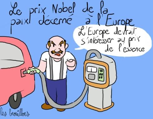 Prix Nobel de la paix pour l'Europe Prix Essence