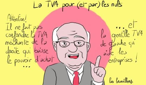 Michel Sapin PS UMP TVA sociale hausse