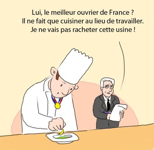 meilleur ouvrier de France salarié titan PDG pneu USA France ministre Montebourg