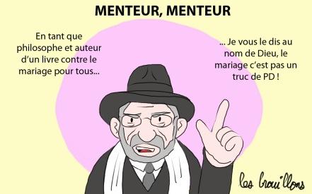 rabbin france homophobie mensonge religion Gilles Bernheim