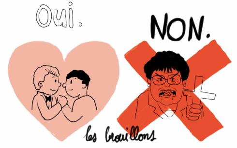 Oui-amour-non-haine vincent bruno mariage pour tous mariage gay homophobie boutin