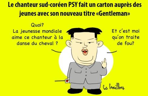 Psy et Kim Jong UN