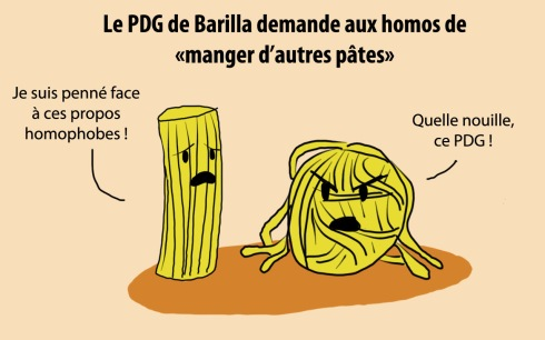 Barilla pâtes homophobie Italie
