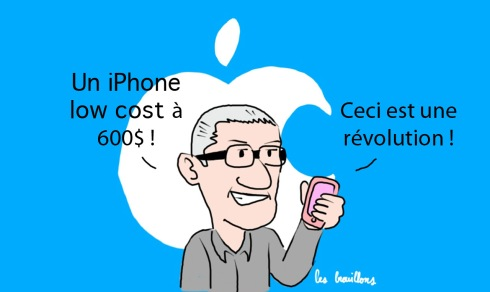 Tim Cook Apple iPhone 5C 5S Steve Jobs