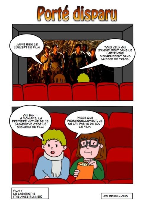 dessin caricature du film Labyrinthe Maze runner
