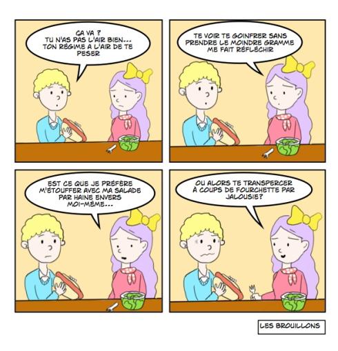 regime, diet, jeun, caricature, salade
