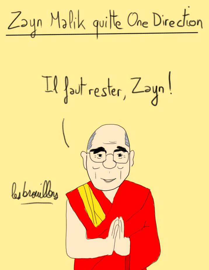 Dalai lama et Zayn Malik