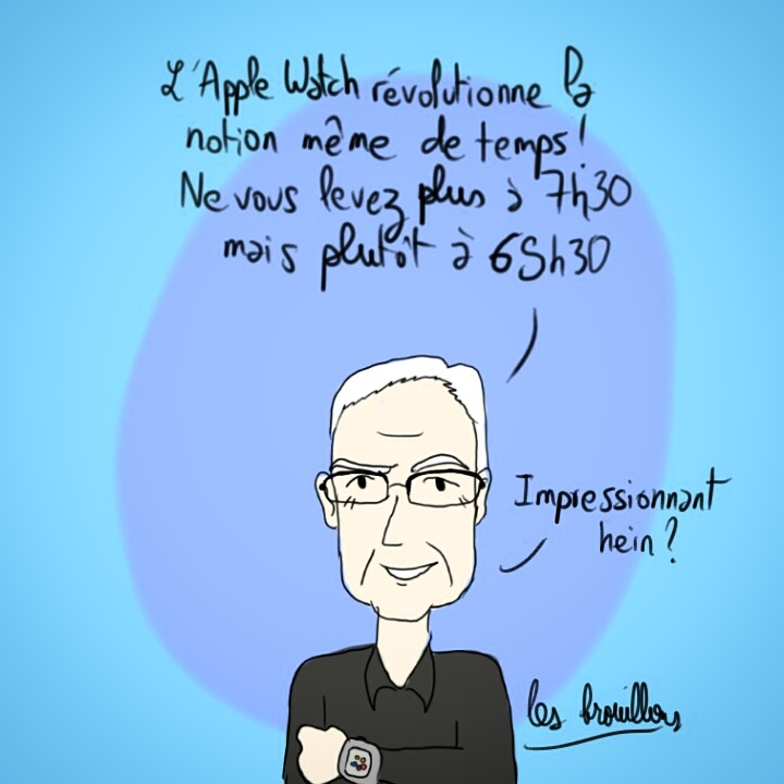 Tim cook et la Apple watch