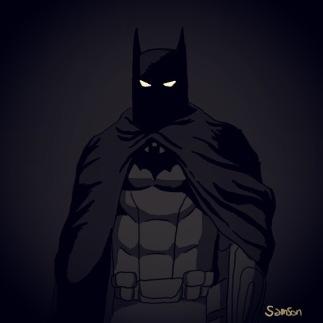 Dessin de Batman fait avec un Galaxy Note 3 avec un filtre Instagram