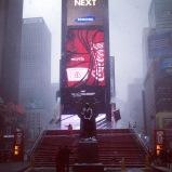 NYC sous la neige... enfin c'était une sacrée tempête de neige ce jour là