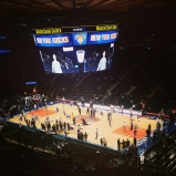 Un match de basket au Madison Square Garden